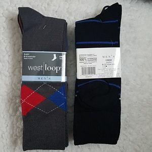 2 for 1 Men's crew socks 2 packs lot
